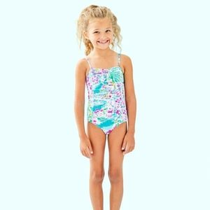 🆕 Lilly Pulitzer Kids Mini Plumeria Swimsuit